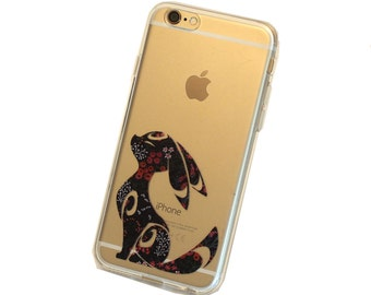 Floral Umbreon iPhone Case, Your choice of Soft Plastic (TPU) or Wood