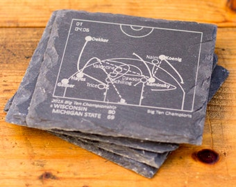 Wisconsin Greatest Plays - Slate Coasters (Set of 4)