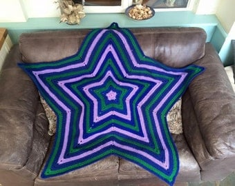 Multi-coloured Star Blankets and Bed Throws any colour to order