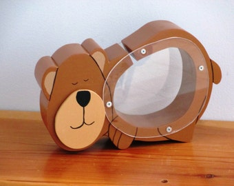 Wood Bear Bank/child's gift