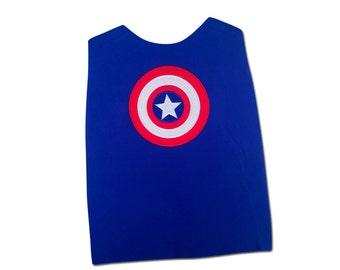 Boy's American Shield Superhero Cape - ADD ON Cape