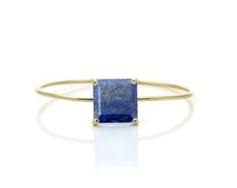 SUMMER SALE -  Lapis bracelet,gold bracelet,thin bracelet,gemstone bracelet,adjustable bracelet,thin cuff bracelet,Lapis lazuli