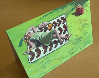 Figurative Greetings Card / A5 & A6 Greetings Card / Birthday Card. Greetings Card. Art Card. Gift Card. Paper Greetings Card