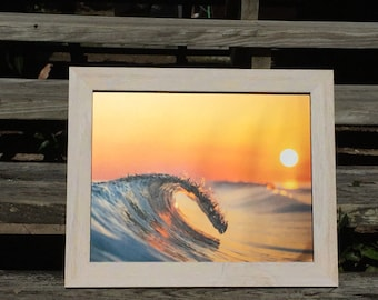 8 x 10 Breaking Wave at Sunset