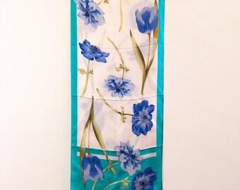 silk scarf, vintage silk scarf, square scarf, long scarf, vintage silk scarf, classic scarf, spring gift, luxury scarf, gift accessory