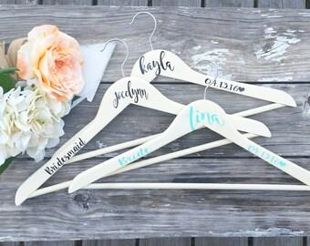 Bridesmaid Hangers - Wedding Dress Hanger - Personalized Hangers