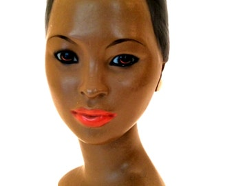 Vintage Alexander Backer African American Bust Classic Lady Figurine 1960s