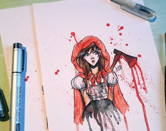 Fine Art Print | Deadly Red Riding Hood