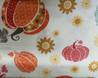 Available Limted Time!!! Fall Harvest Pumpkins Cotton Fabric by the yard