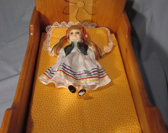 Beautiful hand made rocking baby doll  cradle