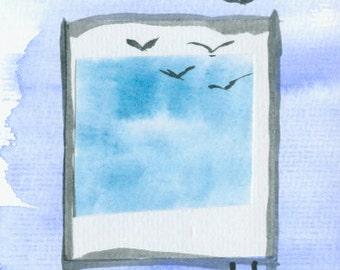 """Watercolor """"Longing"""""""