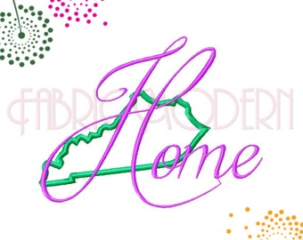 Kentucky Home Embroidery Design, multiple sizes, larger sizes are applique'