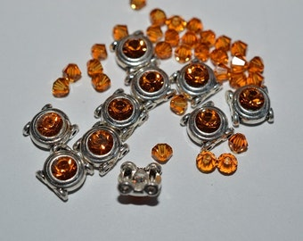 CLEARANCE...Pure Allure 2 hole Beads and 4mm Topaz Swarovski Crystal Bead Combo (PASC50)