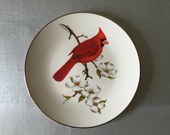Avon 1974 Cardinal North American Songbird Plate