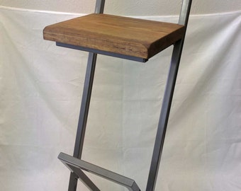 """36"""" X style bar stool with back."""