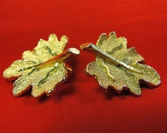 Maple Leaf Earrings Signed BSK
