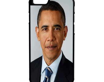 President Barack Obama iPhone Galaxy Note LG HTC Protective Hybrid Rubber Hard Plastic Snap On Case Black