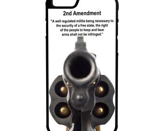 2nd Amendment 38 Revolver Gun Rights iPhone Galaxy Note LG HTC Protective Hybrid Rubber Hard Plastic Snap on Case Black