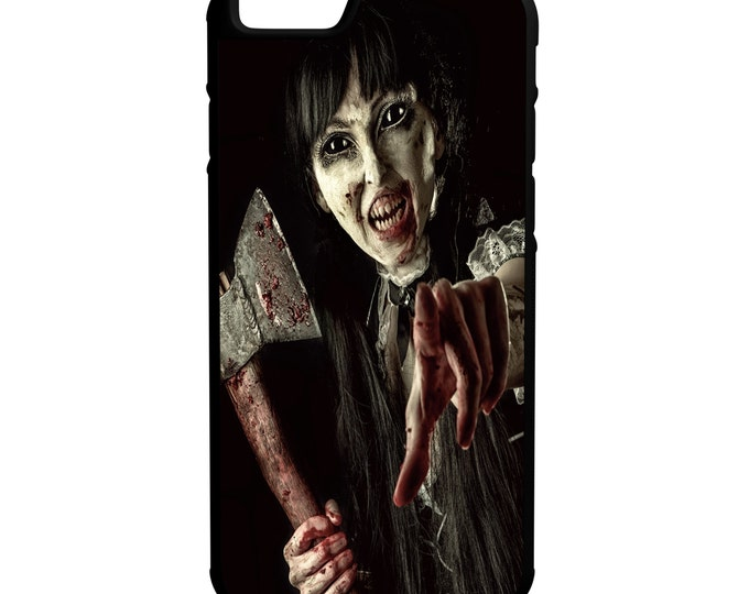 Zombie Girl iPhone Galaxy Note LG HTC Hybrid Rubber Protective Case