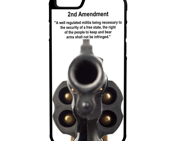 2nd Amendment 38 Revolver Gun Rights iPhone Galaxy Note LG HTC Protective Hybrid Rubber Hard Plastic Snap on Case Black