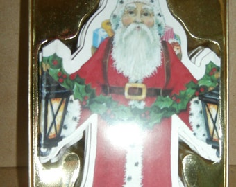 Vintage Christmas decoration Santa Claus garland Kurt Adler 1987 original package