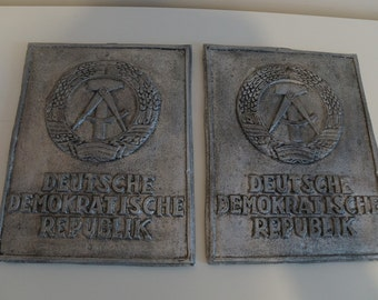 DDR East German Border Plaque - Recast in Plaster Resin