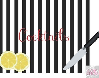 Personalized Cutting Board, Custom Tempered Glass Cutting Board, Cocktails Cutting Board, Realtor Closing Gift, New Homeowner, Hostess Gift