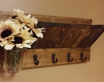 Rustic Decor ,Mail Organizer,Home Decor, Key Rack,Wood  Mail Holder, Key Holder, House warming, Hostess gift. Home and Living, Gift for her