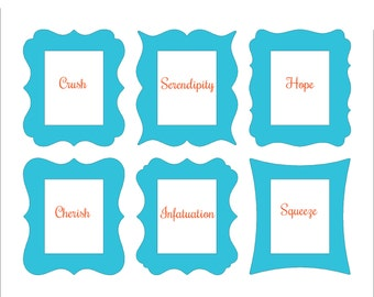 11x14 Whimsical Picture Frame in Choice of Outline and Color