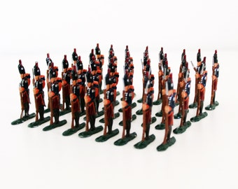 34 pcs Antique Tin Soldiers Lead Soldiers Napoleonic Wars French Light Infantry Fusilier