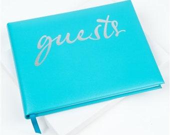 Aqua Script Guest Book