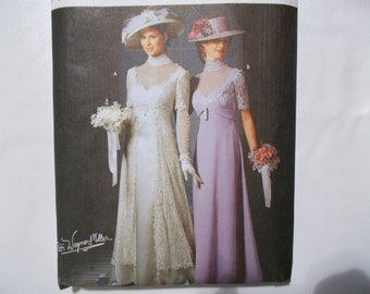 Simplicity 9716 Edwardian Gowns Bridal Gibson Girl Pattern Size HH