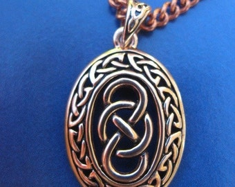 Copper Celtic Knot Pendant and 20 inch chain #CPD4133