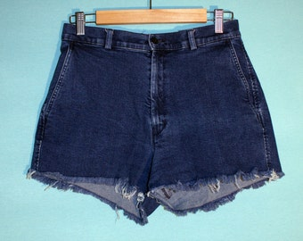 VINTAGE Dockers Cutoff Denim Shorts Size 8 HIGH WAISTED
