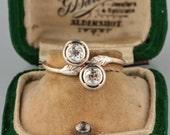 Victorian diamond elegant crossover target ring