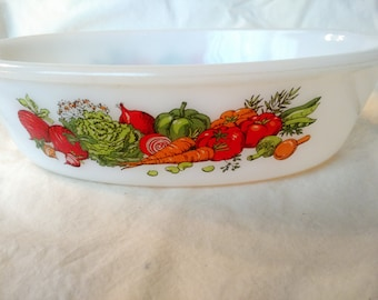 Glasbake Vegetables J235 1 Qt Baking Dish