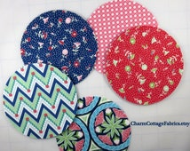 """Circles 4.5"""" One set of 42 Die-cut Craft Circles PEDAL PUSHERS Fabric by Lauren and Jessi Jung for Moda Fabrics"""