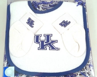 Kentucky Wildcats Baby Bib and Socks Gift Set