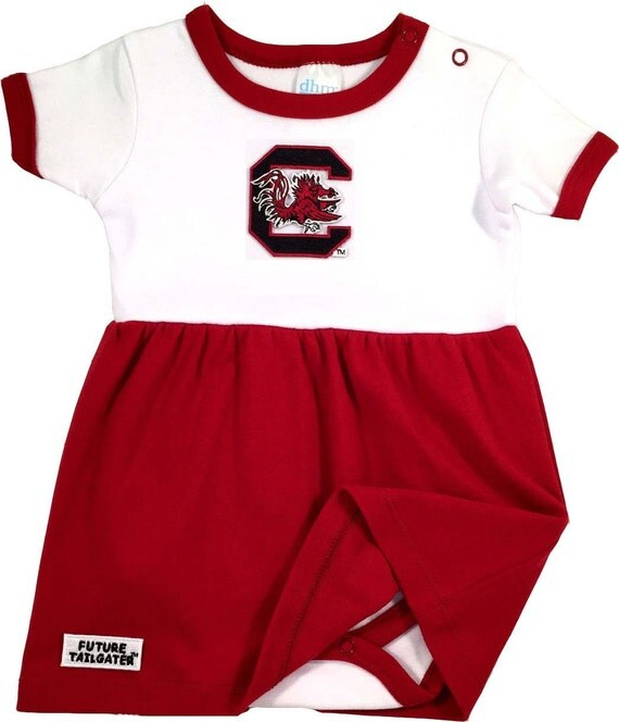 South Carolina Gamecock Baby Bodysuit Dress