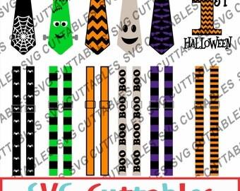 Halloween Tie SVG, DXF, EPS, Vector, Digital Cut File