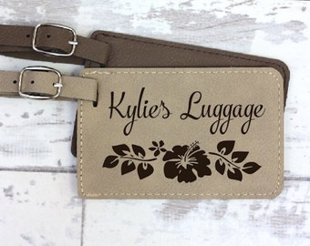 Luggage Tag - Hibiscus Flower