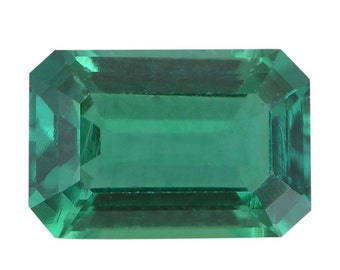 Emerald Synthetic Lab Created Loose Gemstone Octagon Cut 1A Quality 6x4mm TGW 0.40 cts.
