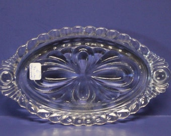 Cambridge Glass crystal Caprice oval serving dish