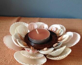 Seashell Flower Candle Holder