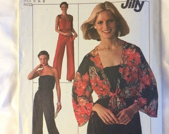 1976 Simplicity Jiffy pattern # 7748, Misses size 6 & 8, Jumpsuit and Jacket, Uncut