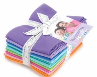 Bella Solids Designer Colors Fat Quarter Bundles Me & My Sister/Zen Chic 12 FQ Each Bundle