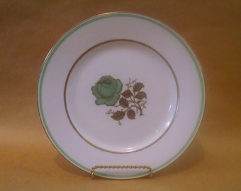 Four Eschenbach Baronet China Bread Plates in the Minerva Rose Pattern