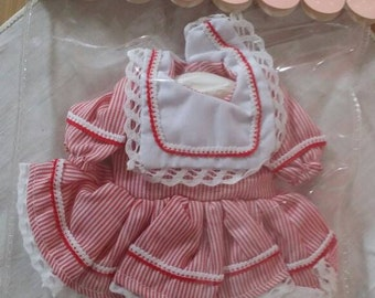 Cameo's Katie Vintage New in Package Red and White Striped Doll Clothes - Dress,Shoes, Socks 1984