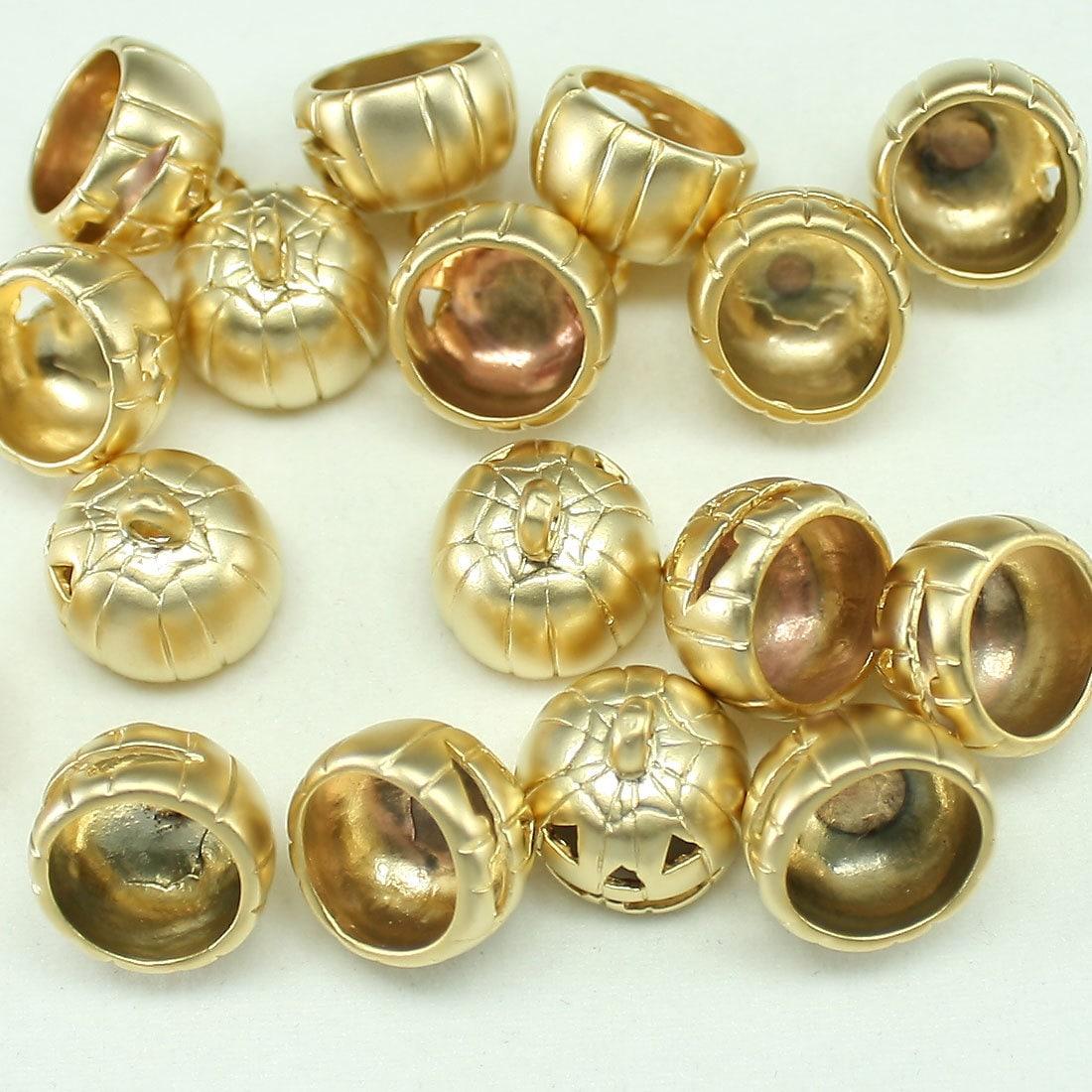 Gold pumpkin Pendants Metal beads jewelry findings for earrings necklace bracelets. jewelry ...