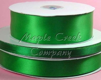 3/8 inch x 100 yards of Emerald Green Double Face Satin Ribbon